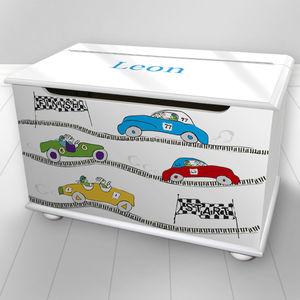 Toy Box Personalised Cars Design - toy boxes & chests