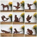 Rusted Animal Silhouette Sign Ornaments