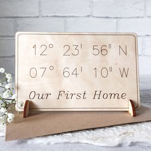 Personalised 'Our First Home' Wooden Card - new home cards