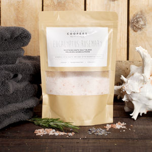 Natural Eucalyptus Rosemary Bath Salt Blend - bathroom