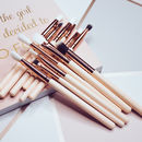 12pc Rose Eye Makeup Brush Set