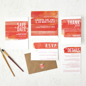 Watercolour Strokes Wedding Stationery