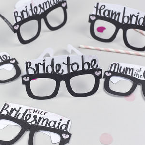 Hen Party Card Glasses