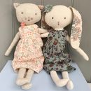 Vintage Style Personalised Cat Or Rabbit Soft Toy