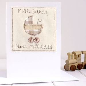 Personalised Naming Day Card - new baby cards