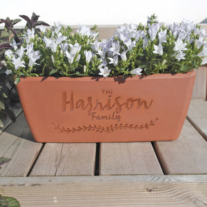 Personalised Terracotta Planter - gardener
