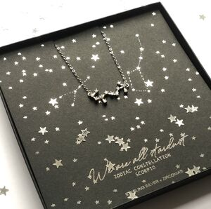 Scorpio Star Sign Zodiac Necklace 23rd Oct 22nd Nov