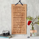 favourite places wooden wall hanging