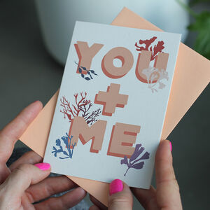 'You And Me' Eco Ocean Anniversary Card