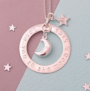Personalised 'Love You To The Moon And Back' Necklace - women's jewellery