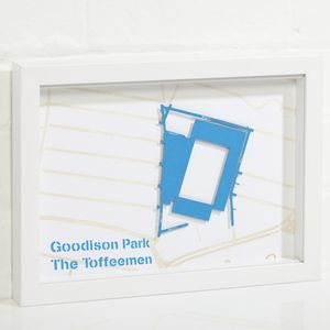 Any Football Stadium Street Map Framed