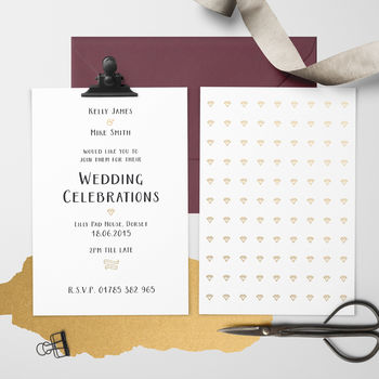 A Girl's Best Friend Wedding Invitation