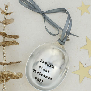 Personalised Vintage Christmas Spoon Bauble