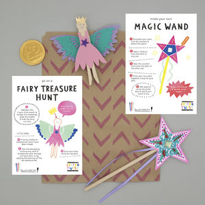 Fairy Party Bag With Wand And Peg Doll Kits - for children