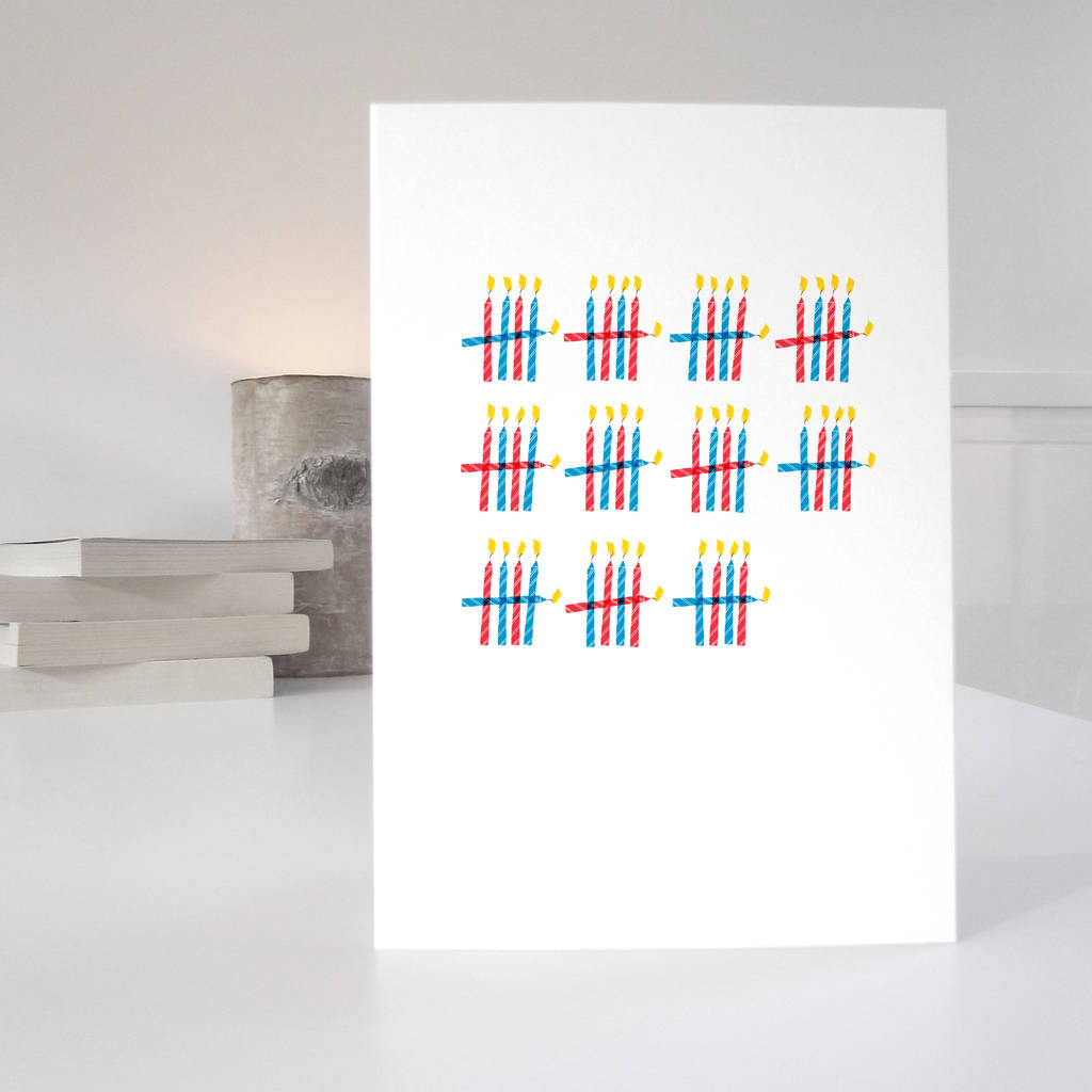 55th birthday card with 55 candles desgin by purpose worth etc