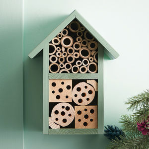 Personalised Handmade Two Tier Bee Hotel - gifts for him