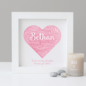 Personalised Watercolour 18th Birthday Gift - sale
