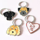 Dog Metal Keyring, Multiple Designs