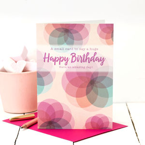 Birthday Card For Her 'A Huge Happy Birthday'