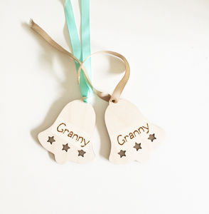 Personalised Christmas Tree Decoration - christmas labels & tags