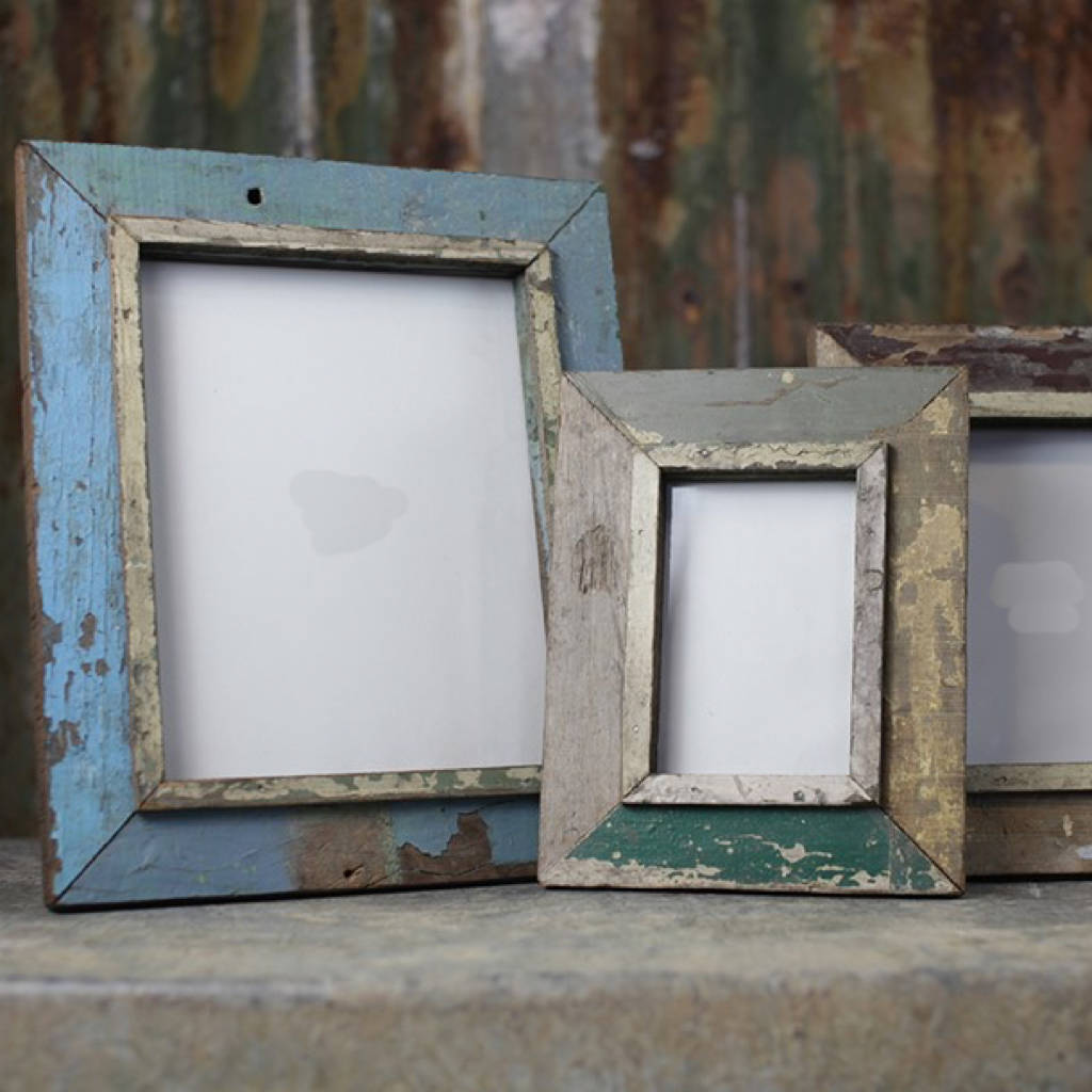 Reclaimed Wood Photo Frame By All Things Brighton
