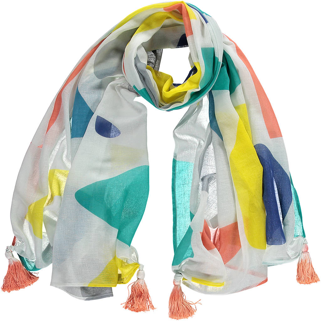Miss Pompom Crazy Paving Scarf