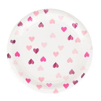 Heart Party Paper Plates