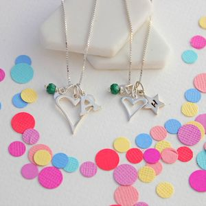 Mama Et Moi Personalised Open Heart Necklaces - children's accessories
