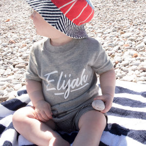 Personalised 'Salty Script' Childrens T Shirt