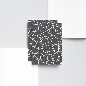 Pocket Monochrome Squares Print Notebook
