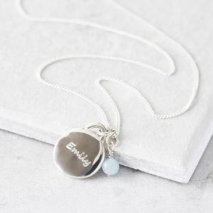 Personalised Charm Necklace With Birthstone - christening jewellery