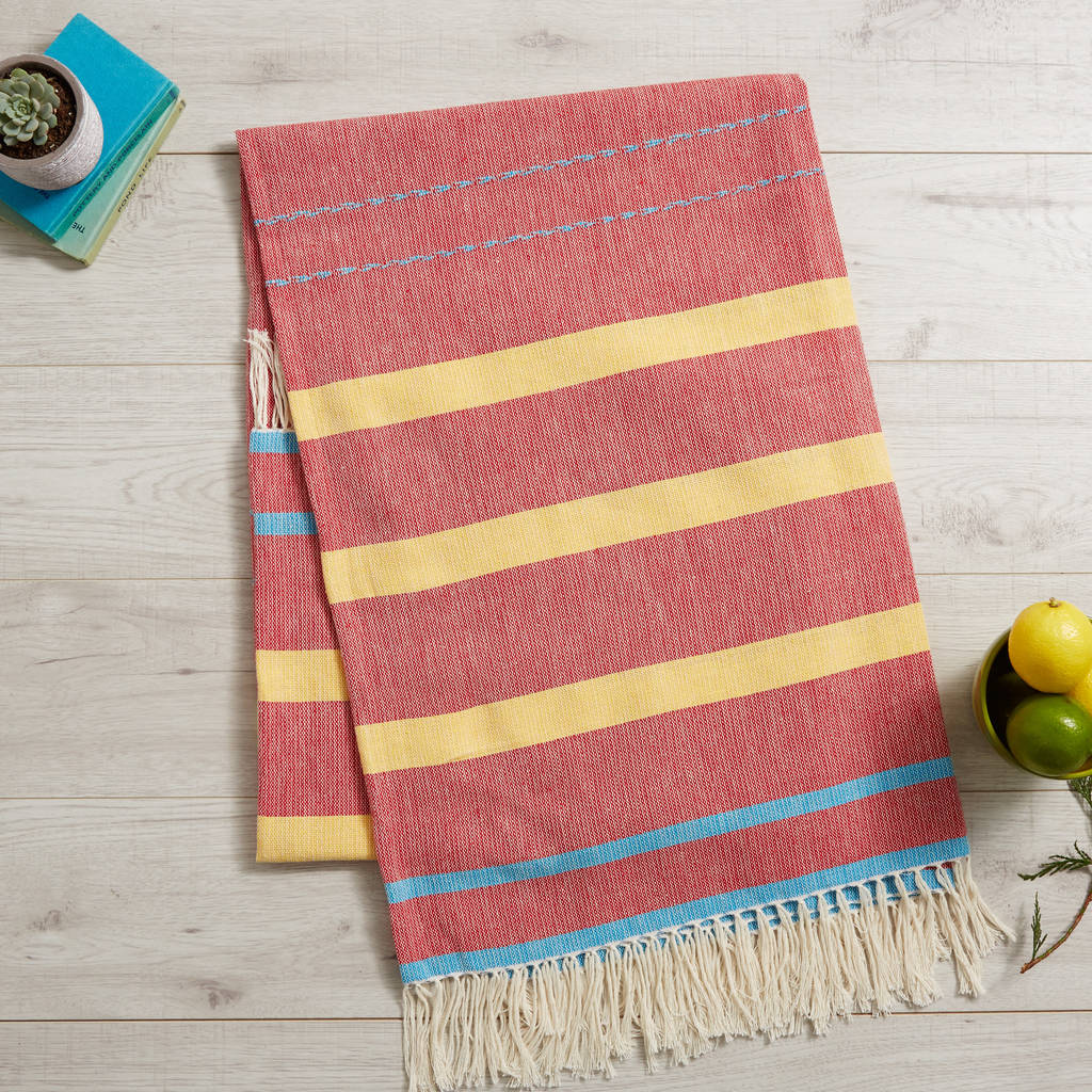Mexican Tablecloth Blanket By Chilpa