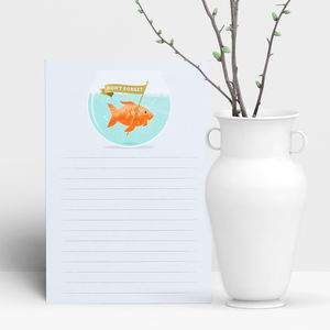 Don't Forget Goldfish Notepad