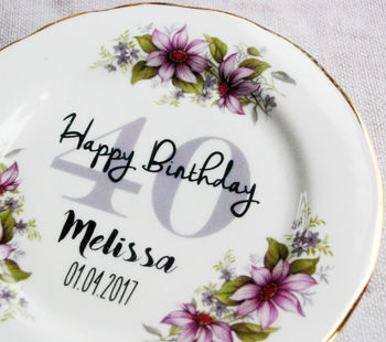 Personalised Special Birthday 50th Vintage China Plate