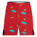 Kids Red Reversible Airplane Shorts