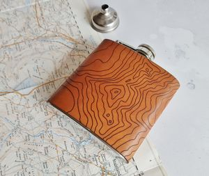 Custom Topography Hip Flask - hip flasks