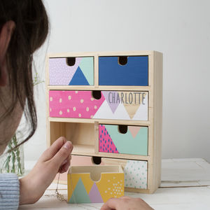 Children's Set Of Colourful Drawers - jewellery storage & trinket boxes