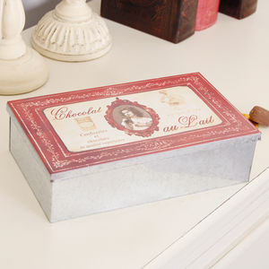 Personalised French Chocolat Tin - cake & baking tins