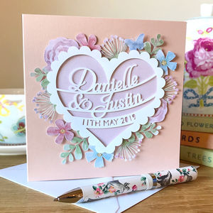 Personalised Wedding Day / Anniversary Papercut Card