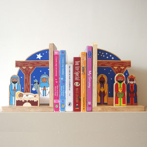 Fair Trade Christmas Nativity Scene Bookend Set