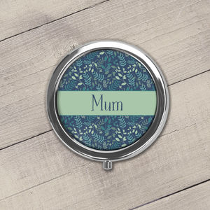 Personalised Blue Floral Pill Box