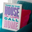 Personalised 'This Is The House …' Family Home Print
