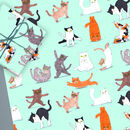 Yoga Cats Gift Wrap