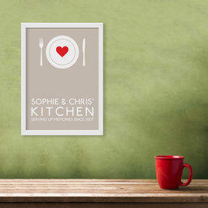 Personalised Kitchen Print - prints & art sale