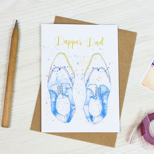 Dapper Dad Card - father's day cards