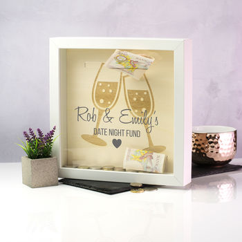 Personalised Date Night Fund Money Box Frame