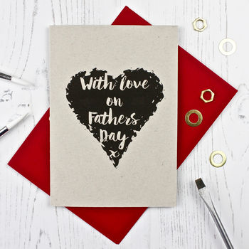 Heart Themed Fathers Day Card
