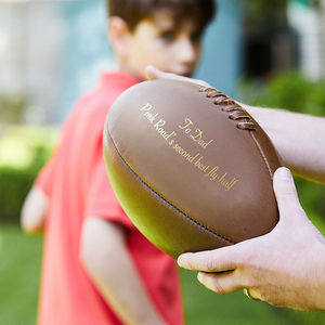 Personalised Vintage Leather Rugby Ball - best father's day gifts