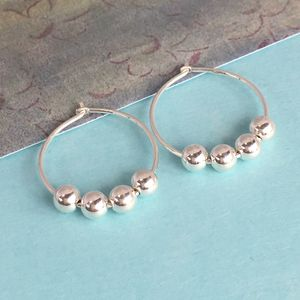40th Birthday Silver Bead Earrings - earrings