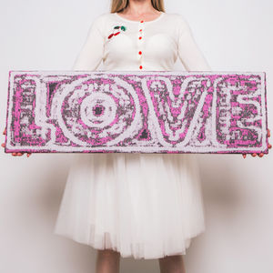 Love Knitted Sign